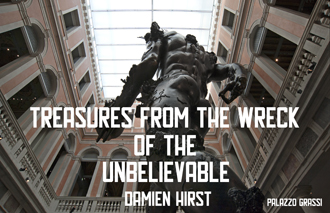 03 Damien Hirst Tresaures from the Wreck of the Unbelievable Black and White by Angela Molteni